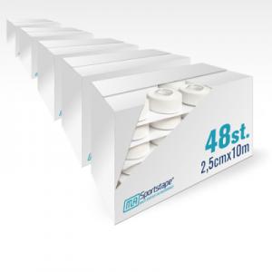 5 Dozen MLA Sporttape 2,5cm Wit (240 st.)